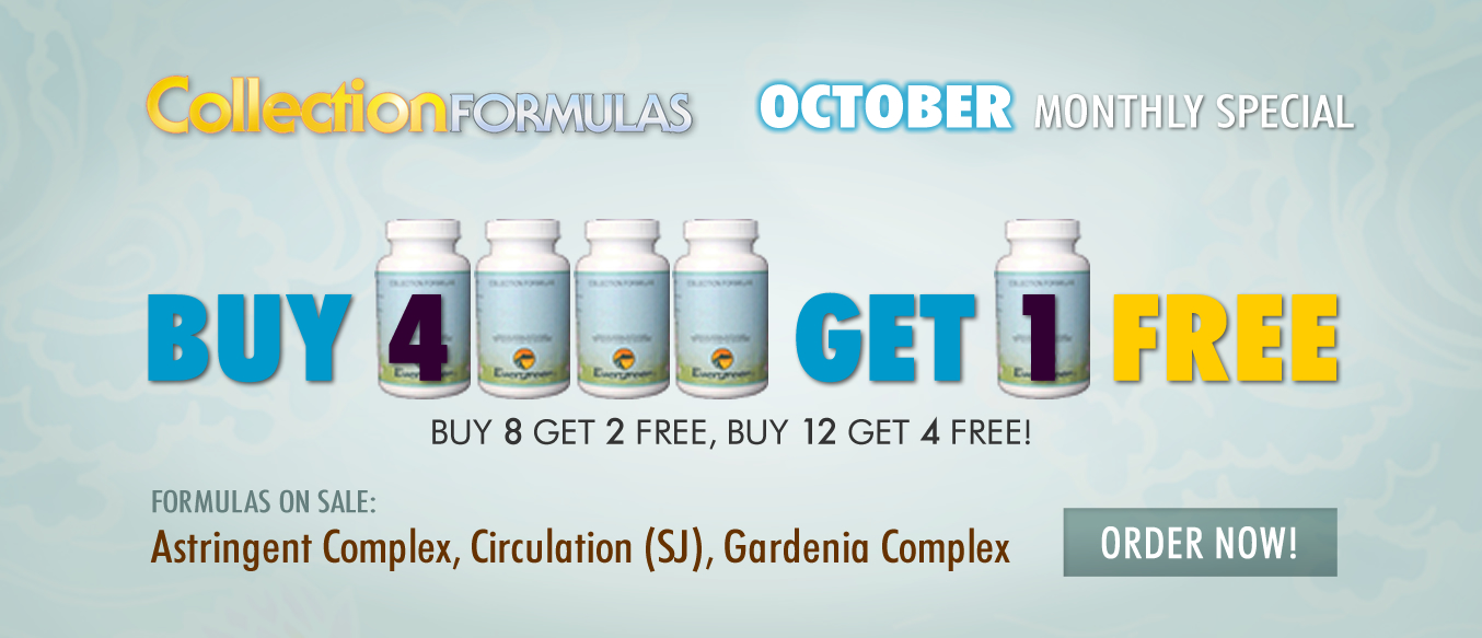 October Buy 4 Get 1 Free Monthly Special
