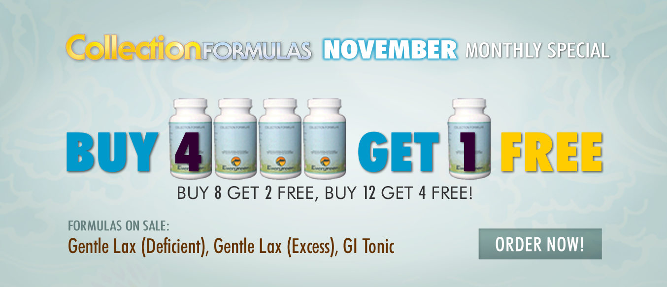 November Buy 4 Get 1 Free Monthly Special